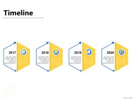 Timeline 2017 To 2020 Years F891 Ppt Powerpoint Presentation File Design Ideas
