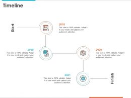 Timeline 2018 To 2021 Years Improving Retention Rate Ppt Presentation Gallery