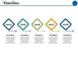 Timeline 5 Years F445 Ppt Powerpoint Presentation Infographics Graphics Template
