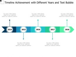 Timeline Achievement With Different Years And Text Bubble