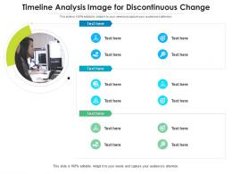 Timeline Analysis Image For Discontinuous Change Infographic Template
