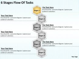Timeline Chart 6 Stages Flow Of Tasks Powerpoint Templates PPT Backgrounds For Slides