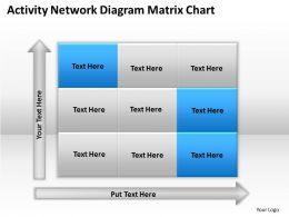 Timeline Chart Activity Network Diagram Matrix Powerpoint Slides 0527