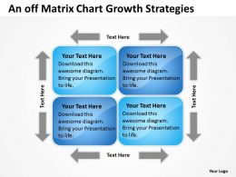 Timeline Chart An Off Matrix Growth Strategies Powerpoint Slides 0527
