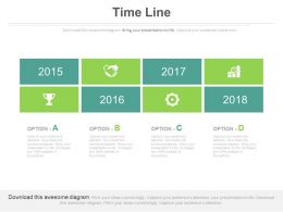 Timeline Chart With Business Growth And Years Powerpoint Slides