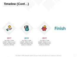 Timeline Cont 2017 To 2019 C600 Ppt Powerpoint Presentation Slides Infographic Template