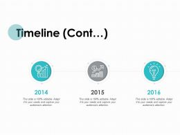 Timeline Cont Years Periods K324 Ppt Powerpoint Presentation Ideas Graphics