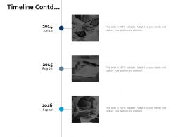 Timeline Contd Ppt Portfolio Slideshow