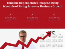Timeline Dependencies Image Showing Schedule Of Rising Arrow Or Business Growth