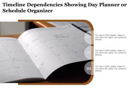 Timeline Dependencies Showing Day Planner Or Schedule Organizer