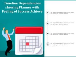 Timeline Dependencies Showing Planner With Feeling Of Success Achieve