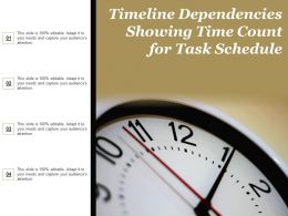 Timeline Dependencies Showing Time Count For Task Schedule