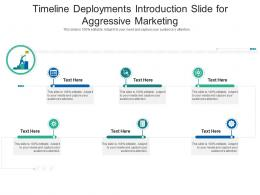Timeline Deployments Introduction Slide For Aggressive Marketing Infographic Template