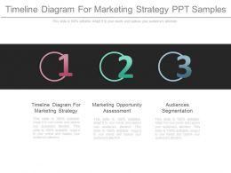 Timeline Diagram For Marketing Strategy Ppt Samples