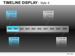 Timeline Display 4 Powerpoint Presentation Slides DB