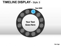 TimeLine Display Style 3 Powerpoint Presentation Slides