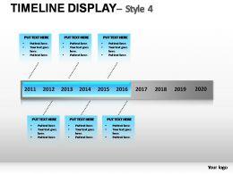 TimeLine Display Style 4 Powerpoint Presentation Slides