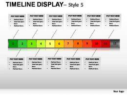 TimeLine display Style 5 Powerpoint Presentation Slides