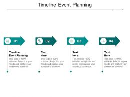 Timeline Event Planning Ppt Powerpoint Presentation File Ideas Cpb