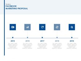 Timeline Facebook Marketing Proposal Ppt Powerpoint Summary