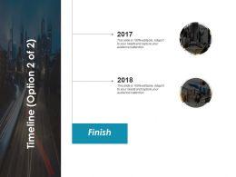 Timeline Finish 2017 To 2018 C375 Ppt Powerpoint Presentation Slides Portrait