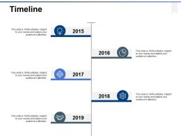 Timeline Five Year Process Ppt Powerpoint Presentation Gallery Influencers