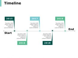 Timeline Five Year Process Ppt Powerpoint Presentation Infographics Shapes