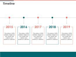 Timeline Five Years D28 Ppt Powerpoint Presentation Outline Example Introduction