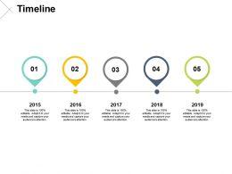 Timeline Five Years F155 Ppt Powerpoint Presentation Portfolio Background