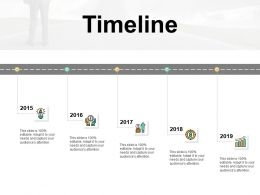 Timeline Five Years F187 Ppt Powerpoint Presentation Pictures Brochure