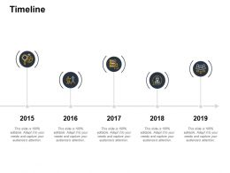 Timeline Five Years F371 Ppt Powerpoint Presentation Pictures Designs Download