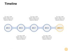 Timeline Five Years F413 Ppt Powerpoint Presentation Pictures Graphics Download