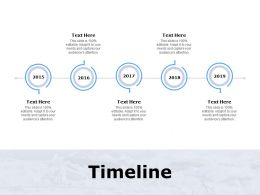 Timeline Five Years F91 Ppt Powerpoint Presentation Outline Skills