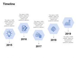 Timeline Five Years Process C104 Ppt Powerpoint Presentation Icon Influencers