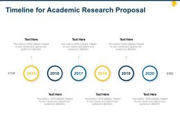 Timeline For Academic Research Proposal Ppt Powerpoint Presentation Smartart