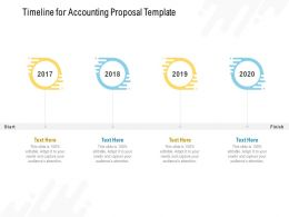 Timeline For Accounting Proposal Template 2017 To 2020 Ppt Pwerpoint Presentatio Slides