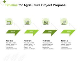 Timeline For Agriculture Project Proposal Ppt Powerpoint Presentation Format