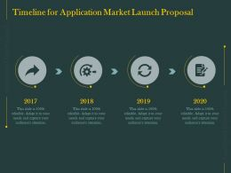 Timeline For Application Market Launch Proposal Ppt Powerpoint Presentation Gallery