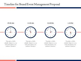 Timeline For Brand Event Management Proposal Ppt Powerpoint Ideas