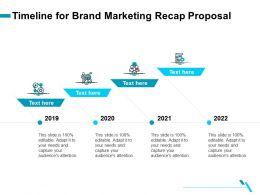 Timeline For Brand Marketing Recap Proposal Ppt Templates