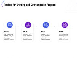 Timeline For Branding And Communication Proposal Ppt Portfolio Templates