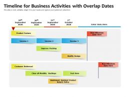 Timeline For Business Activities With Overlap Dates