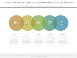 Timeline For Business Agenda Analysis Powerpoint Templates Microsoft