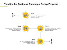 Timeline For Business Campaign Recap Proposal 2017 To 2020 Ppt Powerpoint Presentation Icon