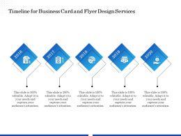 Timeline For Business Card And Flyer Design Services Ppt File Display