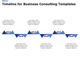 Timeline For Business Consulting Templates Ppt Powerpoint Presentation Model Download