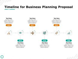 Timeline For Business Planning Proposal 2015 To 2020 Ppt Presentation Visual Aids Example 2015