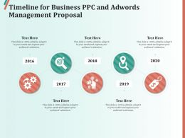 Timeline For Business PPC And AdWords Management Proposal Ppt Layouts