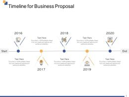 Timeline For Business Proposal 2016 To 2020 Years Ppt Powerpoint Infographic Template