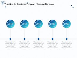 Timeline For Business Proposal Cleaning Services Ppt File Example Introduction